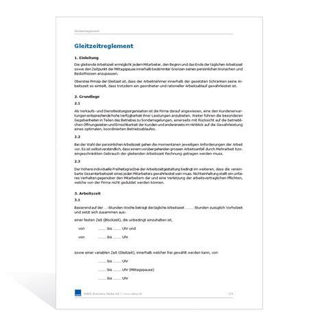 Muster Einladung Zum Vorstellungsgespräch Kostenlos Vorlage Gleitzeitreglement
