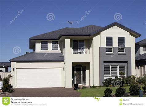 Townhome Plans modern suburban house stock photos image 2950843
