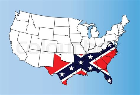 usa map confederate states an outline map of theunited states of america showing the