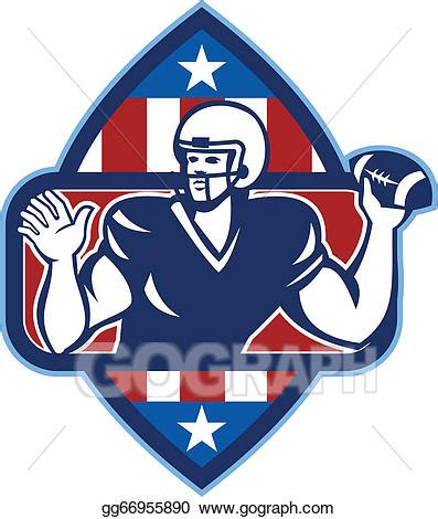 what side do sts go on vector illustration american football quarterback throw