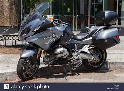 bmw rrt sport touring motorrad geparkt usa stockfoto