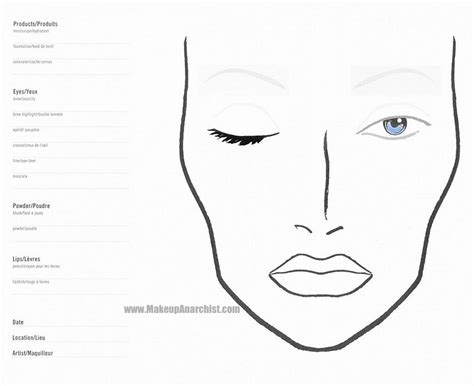 Makeup Charts Template best photos of blank eye makeup chart blank makeup