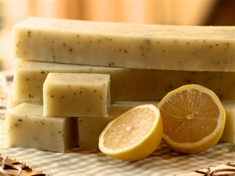Handcrafted Soaps - lemon balm handmade soap the wellingham herb company