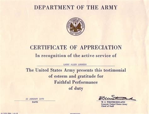 certificate of achievement template army untitled 1 a70thvets