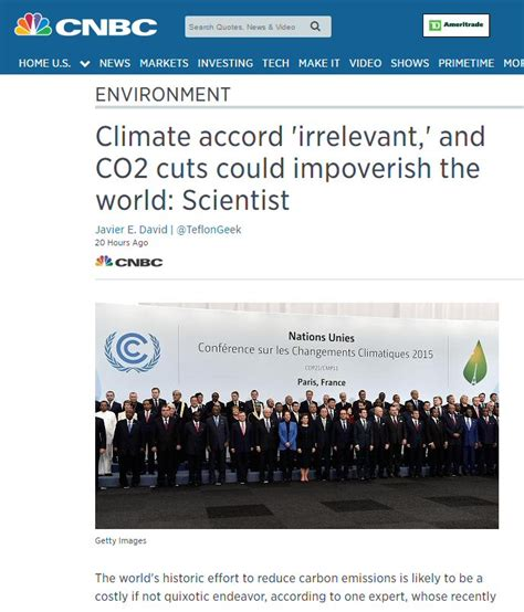 q a the paris climate accord the new york times cnbc breaks with the climate disaster narrative of msm
