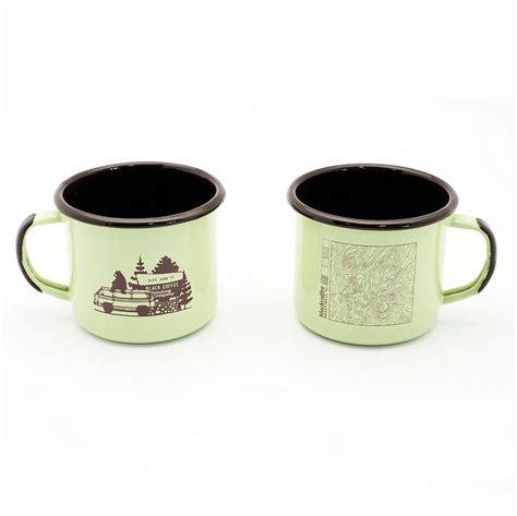 Enameled Steel Mugs   Black Coffee Roasting Company