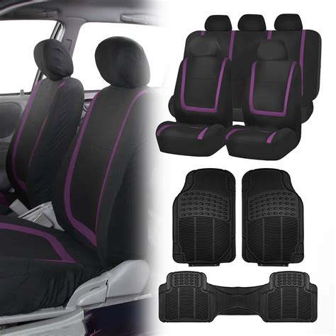 purple seat covers for cars black purple car seat covers with black rubber floor mats