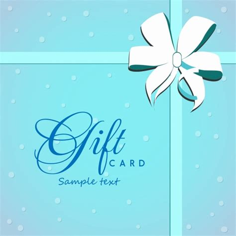 Gift Card Covers - gift card cover background bright blue ribbon ornament free vector in adobe