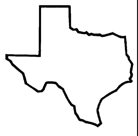 texas state outline map state of texas outline clipart best