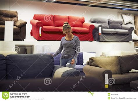 shopping for furniture and home decor stock photo
