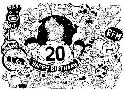 doodle angka 7 yessiow september 2013
