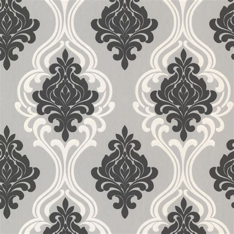 black damask wallpaper home decor shop brewster wallcovering elements black grey non woven