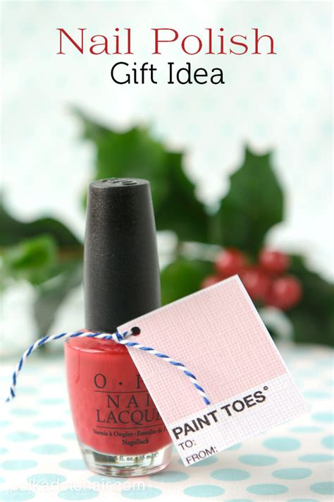 nail polish christmas gift tags and free printable