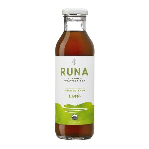 amazon tea runa amazon guayusa tea unsweetened lime 14 0 fl oz from central co op instacart