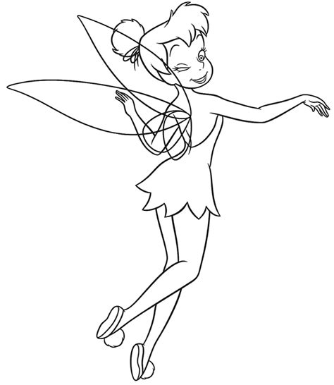 tinkerbell coloring page coloring tinkerbell coloring pages