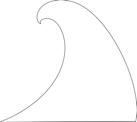 free coloring pages of water waves clipart