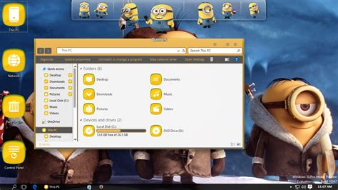 theme windows 8 1 minions minions transformation pack for windows 7 8 8 1 10