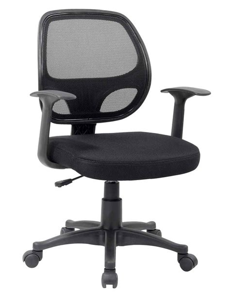 ergonomic black mesh computer chair with arms decobizz
