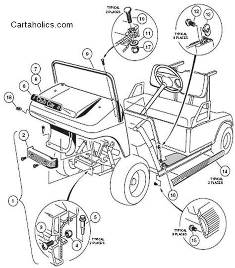 club car golf cart parts diagram cartaholics golf cart forum gt club car ds diagrams