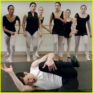 kenny wormald center stage on pointe chloe lukasiak promotes center stage on pointe in nyc