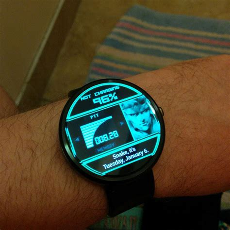 Cool Clock Faces this smart watch theme lets you wear the codec on your