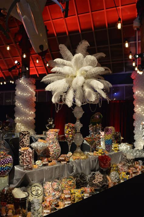 tone and theme of the great gatsby feathered centerpieces great gatsby theme events