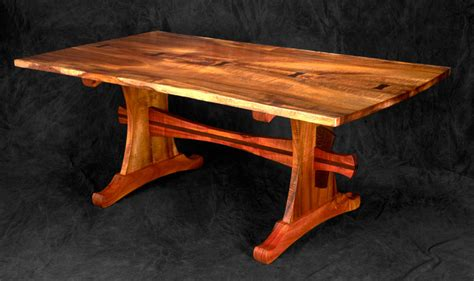 Koa Dining Table Koa Trestle Table