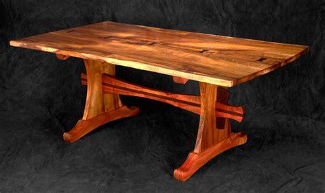 koa trestle table