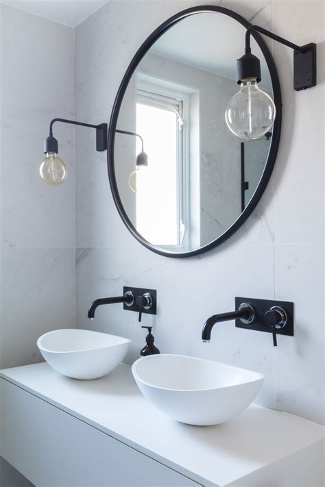 Bathroom Marble Tiles Marble Black And White Bathroom Industrial Bathroom Mirrors
