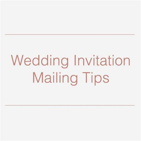 Wedding Invitations Mailing by Wedding Invitation Mailing Tips