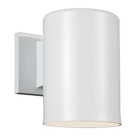 Cylinder Light Fixtures Sea Gull Lighting Outdoor Cylinder Collection 1 Light White Outdoor Wall Fixture 8313801ble 15
