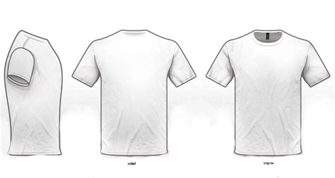 best hd shirt template white drawing