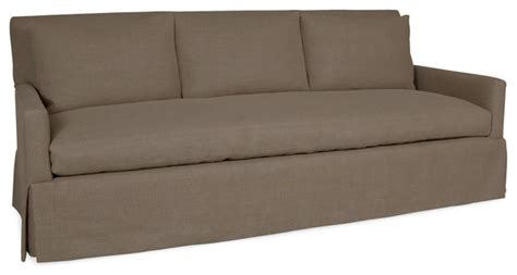 sofa bench seat tailor bench seat sofa in glynn linen earth transitional sofas by bliss home and design