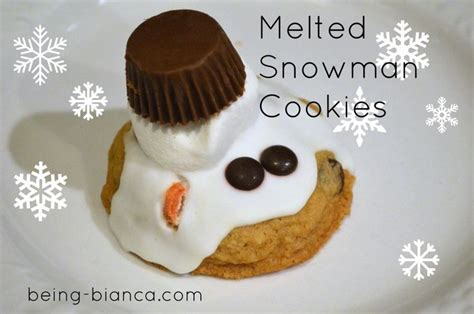 melted snowman cookies with reeses www imgkid com the