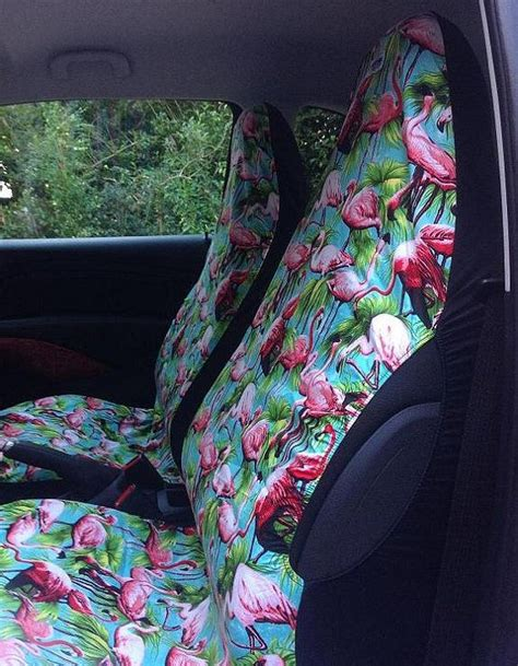 car seat fabric dye fabulous and funky car seat covers pink flamingo
