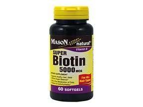 Suplemen Vitamin Nutrisi Biotin 5000 Mcg 60 Softgels Utk vitamins nutritional supplements and products vitamins biotin 5000 mcg 60