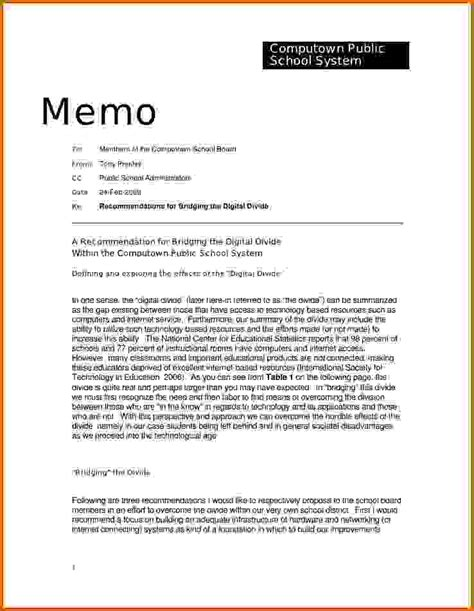 10 how to write a memorandum letter   Lease Template