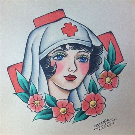 Old School Nurse Tattoo Meaning | 60 best images about love sick on pinterest pin up nurse