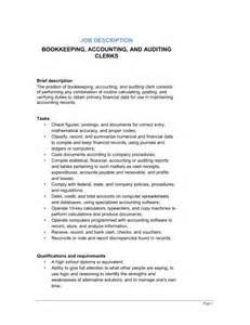 Tax Accountant Description by Description Bookkeeping Accounting Auditing Clerks