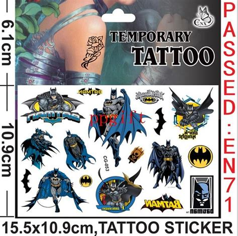 batman tattoo stickers batman waterproof cartoon tattoo stickers batman men