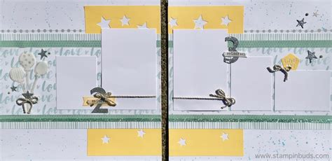 Handmade Baby Album - whimsy handmade baby boy album stin buds with ctmh