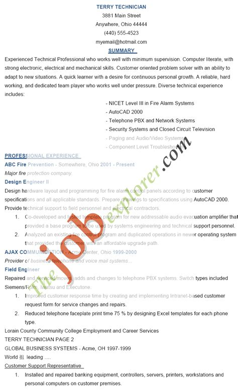 Resume Sample Quick Learner by Technician Resume Sample Technician Resume Template