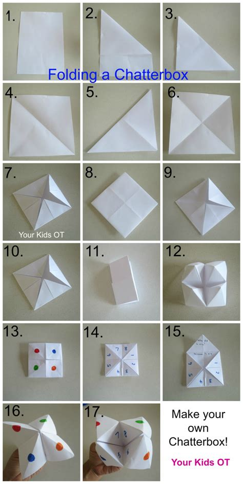 How Do You Make A Paper Chatterbox - your ot your ot
