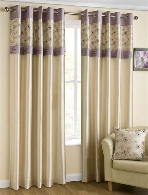 silk curtains ready made lined eyelet curtains faux silk ready made ring top