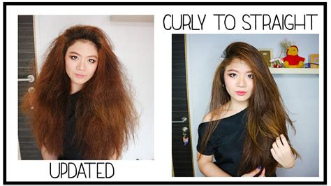 tutorial curly rambut menggunakan catok updated curly to straight tutorial mencatok rambut