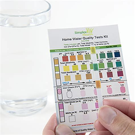 simplexhealth water test kit 6 in one 1006