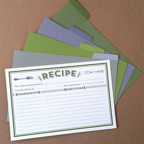 Editable Recipe Card Template by The World S Catalog Of Ideas