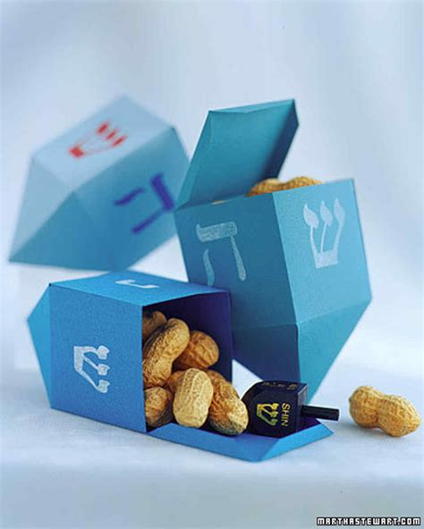 How To Make A Paper Dreidel - paper dreidel martha stewart