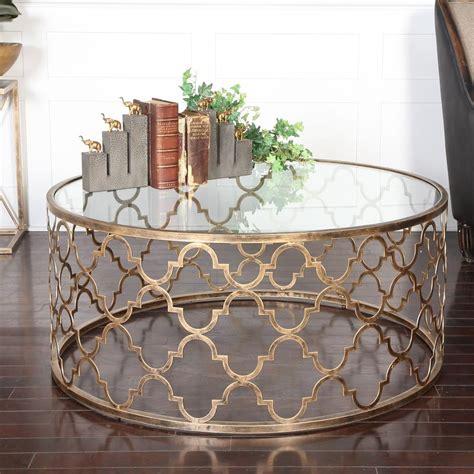 Quatrefoil Coffee Table by Lamarr Global Bazaar Gold Quatrefoil Iron Coffee Table
