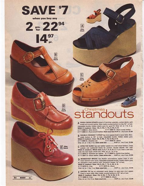 These Trends Twisted My by 1975 Wards Check Out These Platform Shoes Vintage